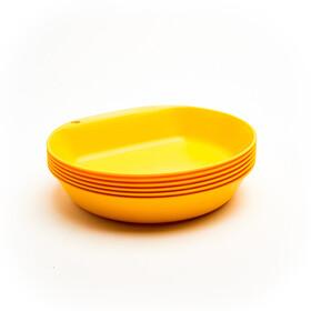 Wildo Camper Plate Deep Set Unicolor 6-Pieces lemon